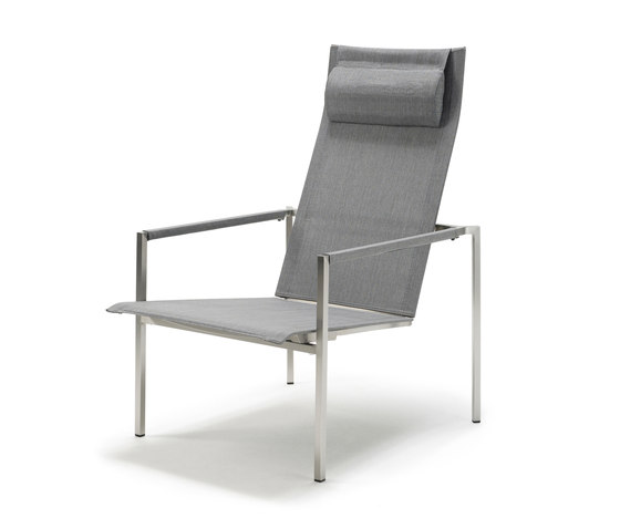 Pure Stainless Steel Deck Chair de solpuri | Sillones de jardín