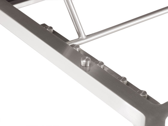Pure Stainless Steel Lounger de solpuri | Tumbonas de jardín