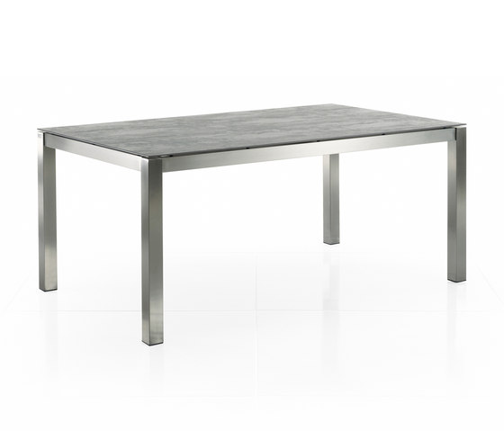 Classic Stainless Steel Ceramic Dining Table by solpuri | Dining tables