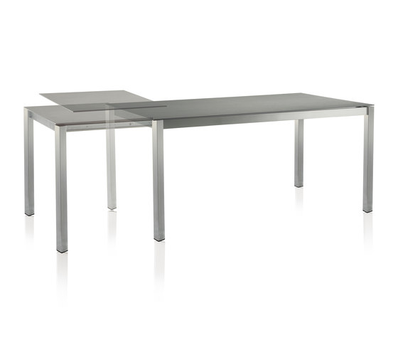 Classic Stainless Steel Ceramic Extension Table by solpuri | Dining tables