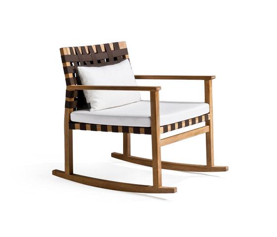 Vis à Vis Rocking chair by Tribu | Garden armchairs