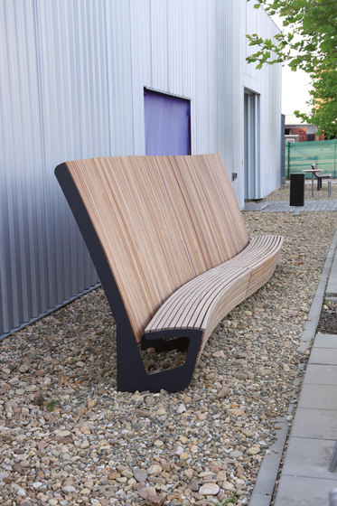landscape   Curved park bench with high backrest by mmcité   Benches