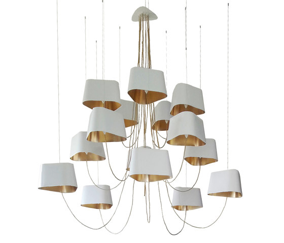 Nuage Chandelier 15 large by designheure | Lighting objects