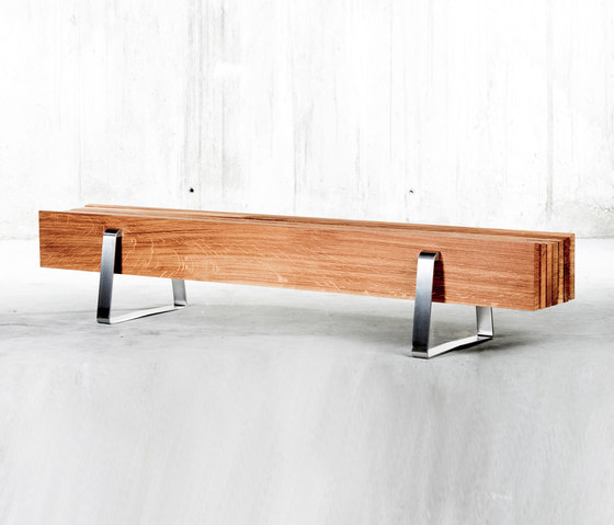 Long Bench by QoWood | Garden benches