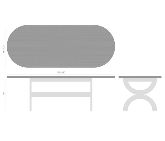 Loop Table by QoWood | Dining tables