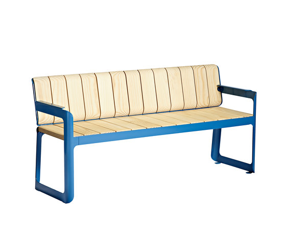Air bench with backrest by Vestre | Garden benches