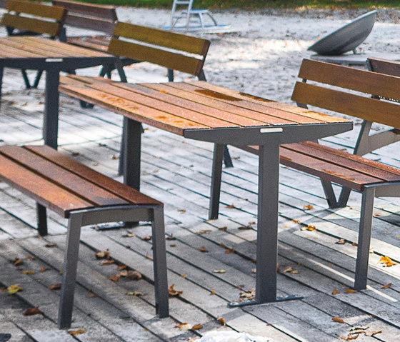 tably | Rectangular table by mmcité | Exterior tables
