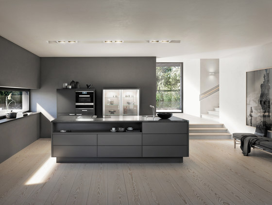 Materials   Lacquer matt by SieMatic   Fitted kitchens