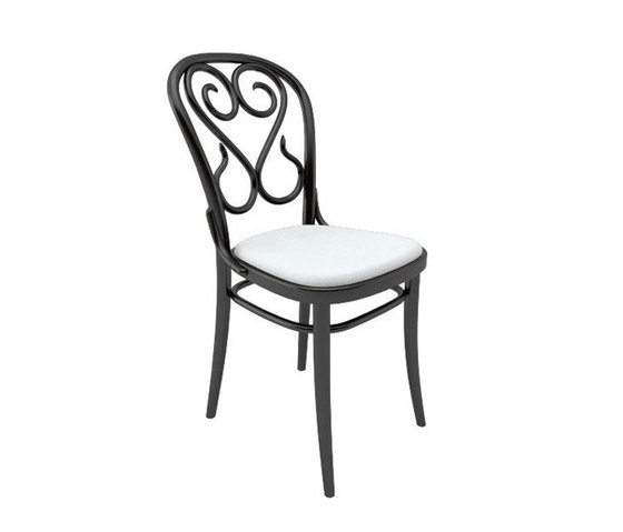 04 Chair upholstered de TON | Sillas para restaurantes