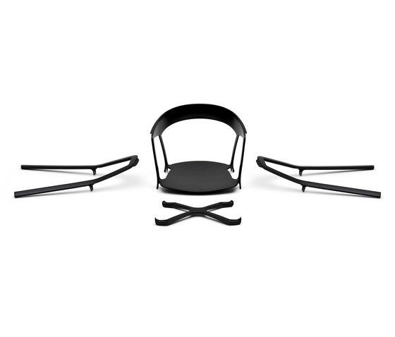 Compas petit fauteuil de Kristalia | Chaises de restaurant