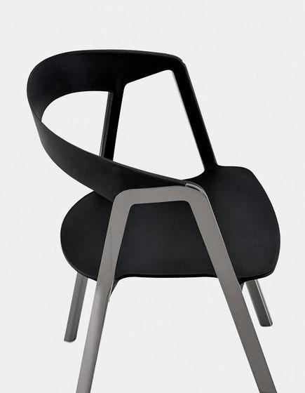 Compas Shiny petit fauteuil de Kristalia | Chaises de restaurant