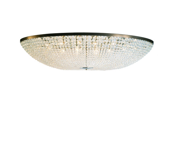 Magnificient Oval Beaded Chandelier de Woka | Éclairage général