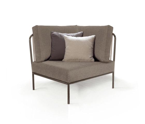 """Nido Hand-woven corner module """"Nido"""" by Expormim   Garden armchairs"""