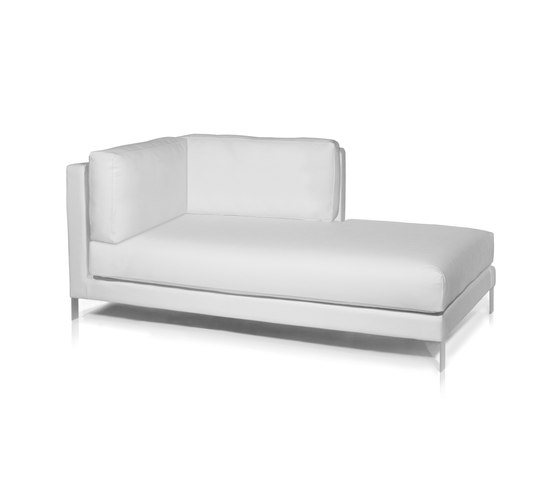 Slim Right chaise longue module by Expormim | Garden sofas