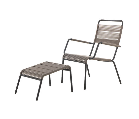 Camargue Armchair with footstool by Unopiù | Garden armchairs