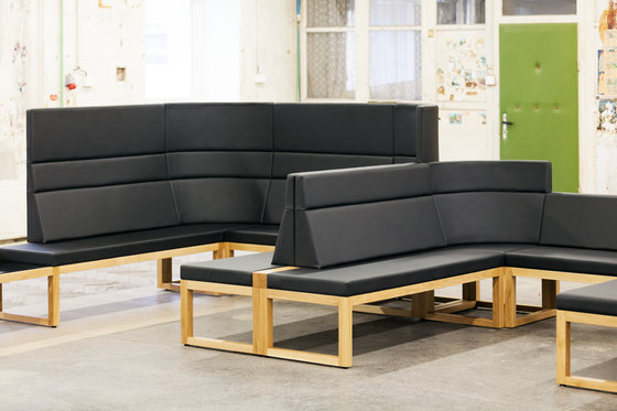 Diner Bench by TON | Waiting area benches