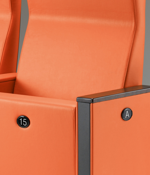 C100 Armchair with high backrest by Lamm | Auditorium seating