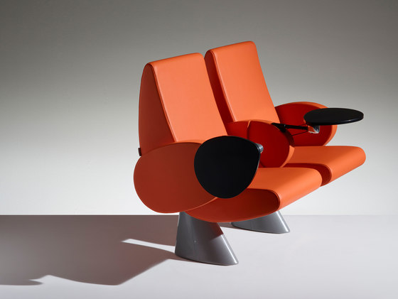 Tulip Armchair on beam by Lamm | Auditorium seating