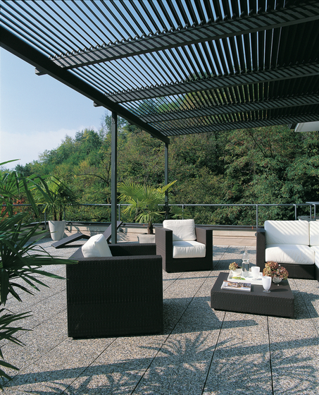 pergolas sunshades meridienne pergola unopi. Black Bedroom Furniture Sets. Home Design Ideas