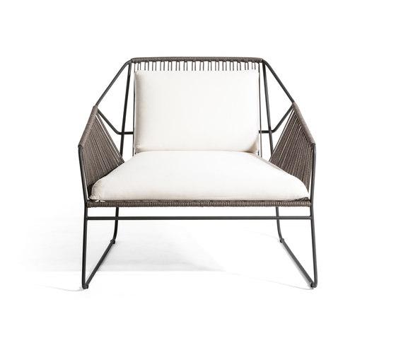 Sandur Club Chair Full Woven by Oasiq | Garden armchairs