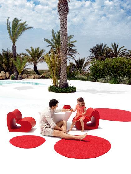 Agatha rug red by Vondom | Outdoor rugs