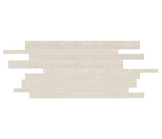 Back Ivory Strips di Keope | Mosaici ceramica