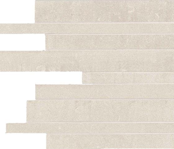 Back Ivory Strips von Keope | Keramik Mosaike