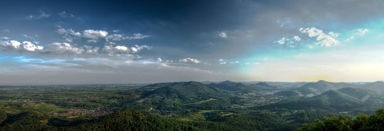Landscape | View from Orensfels over the Palatinate Forest by wallunica | Wall art / Murals