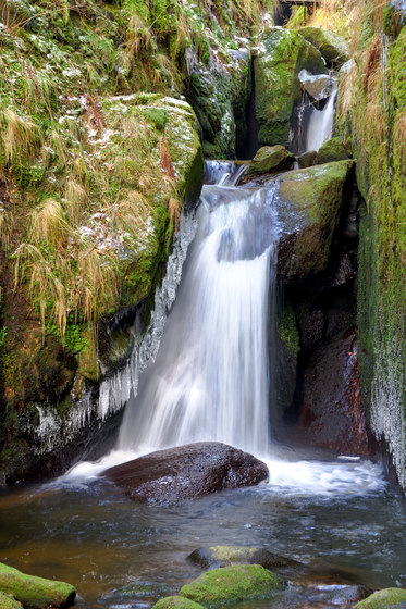 Landscape | The Menzenschwander Waterfall in the Black Forest by wallunica | Wall art / Murals