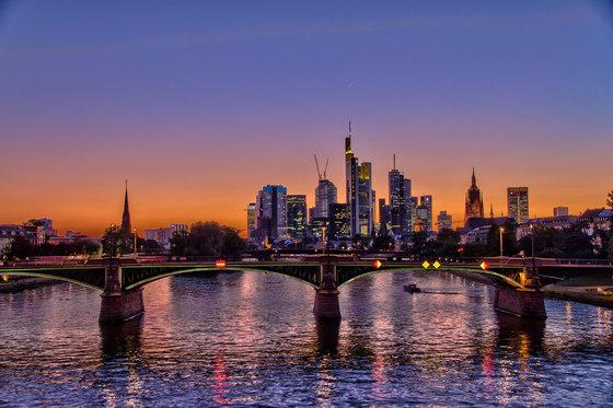 Frankfurt | River Main in Frankfurt at night by wallunica | Wall art / Murals