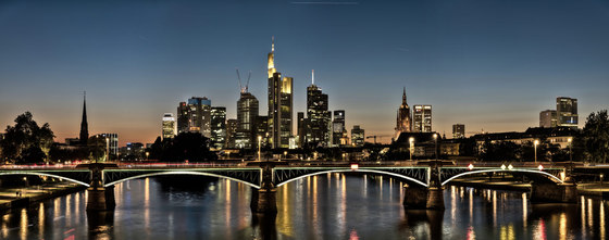 Frankfurt | River Main in Frankfurt at night by wallunica | Wall art / Murals