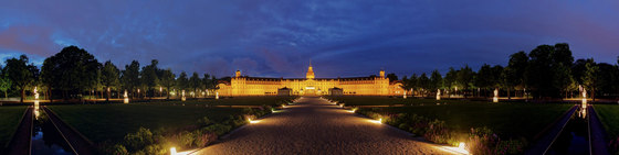 Frankfurt | View of Karlsruhe Palace at night by wallunica | Wall art / Murals