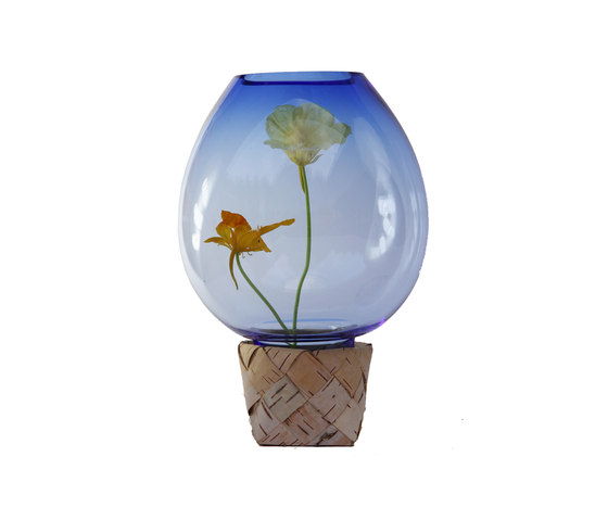 Flower Trap | Blue with flowers by Utopia and Utility | Vases