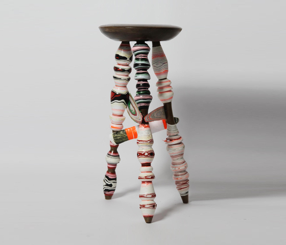 Processed Paper | Harlequin stool by Utopia and Utility | Bar stools
