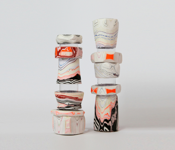 Processed Paper | Modular Paper Vessel small by Utopia and Utility | Vases