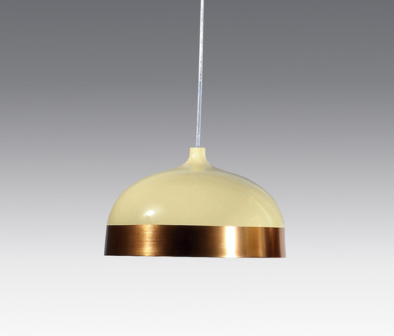 Glaze Pendant Lamp 33 Cream & Copper by Innermost | General lighting