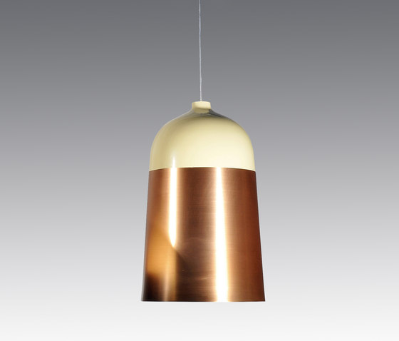 Glaze Pendant Lamp 32 Cream & Copper by Innermost | General lighting