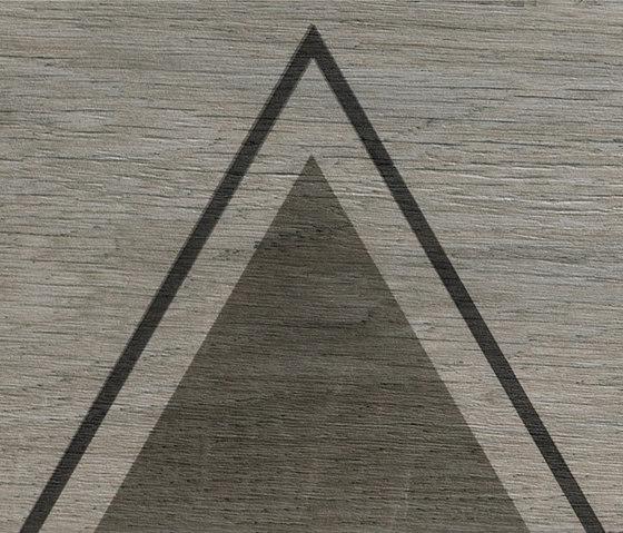 Bio Timber | Oak Grigio triangles by Lea Ceramiche | Ceramic panels