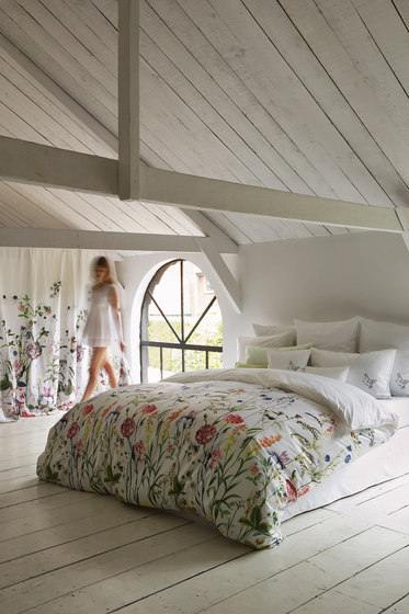 Flora bed linen by Christian Fischbacher | Bed covers / sheets