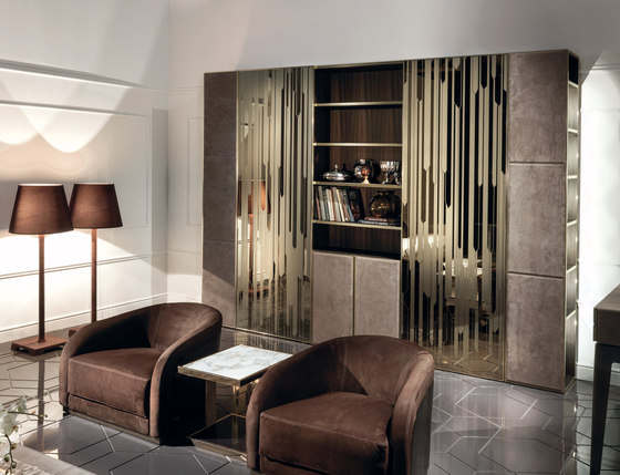 Ianus middle system by Longhi S.p.a. | Wall storage systems