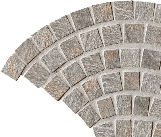 In&Out - Percorsi Quartz Coda di Pavone Grey di Keope | Mosaici ceramica