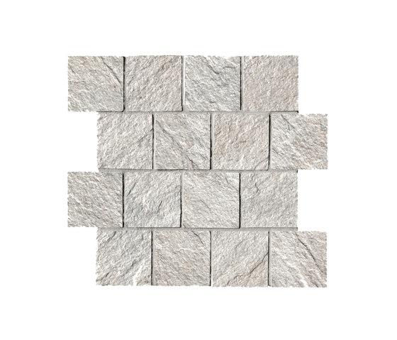 In&Out - Percorsi Quartz Mosaico White di Keope | Mosaici ceramica
