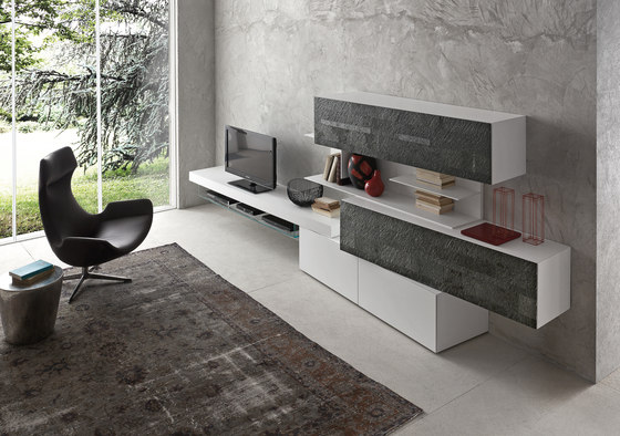 inclinART Pietra by Presotto | Wall storage systems