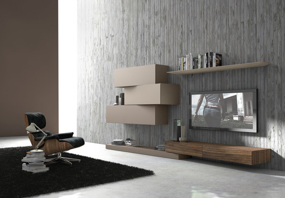 InclinART Ecomalta® by Presotto | Wall storage systems