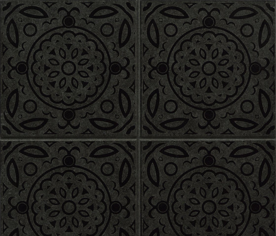 Maiolica Reverse | Absolute Black by Iqual | Natural stone wall tiles