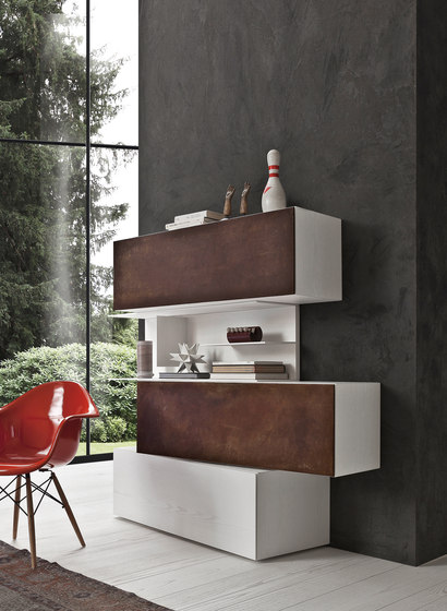 InclinART Cor-ten by Presotto | Shelving