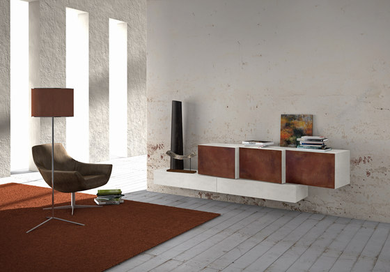 InclinART Cor-ten by Presotto | Sideboards