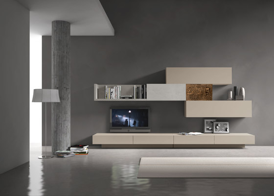 InclinART Vintage by Presotto | Wall storage systems