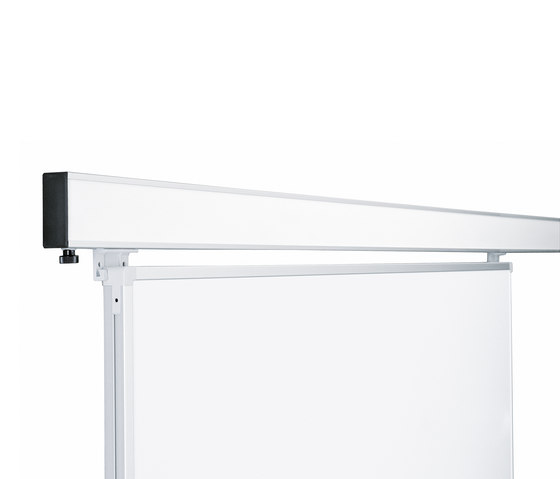 2-channel junior wall rail by HOLTZ | White boards