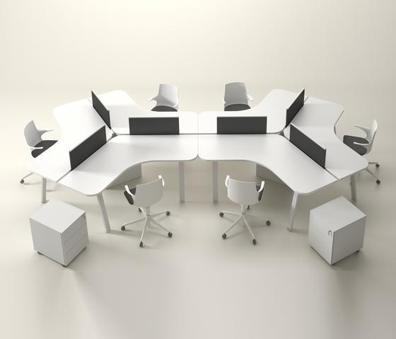 Sistemi tavolo postazioni di lavoro atreo alea for Bureau 6 personnes